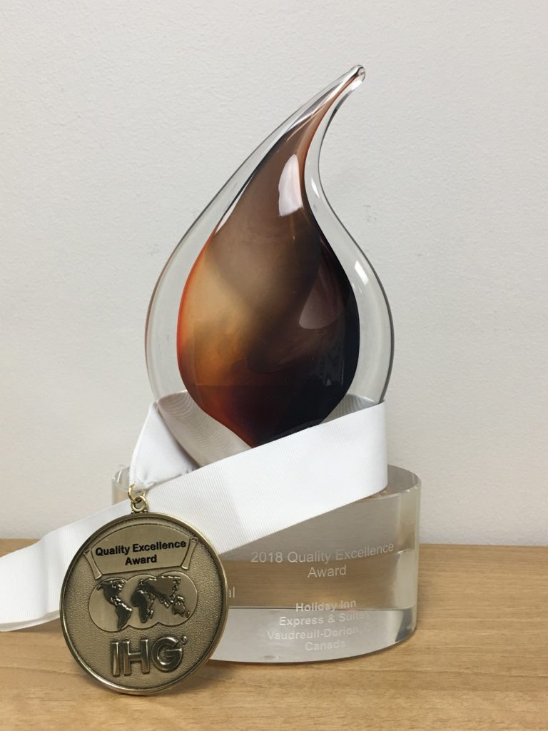 Holiday Inn Express & Suites Vaudreuil-Dorion, récipiendaire du IHG Quality Excellence Award!