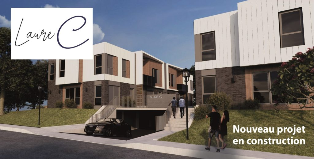 Situé sur la rue Laure-Conan, ce projet d'habitation regroupe maisons de ville et condos.