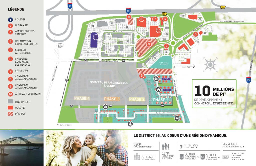Un plan de développement résidentiel revisité et l'arrivée d'un nouveau joueur au District 55!